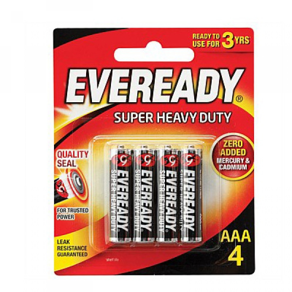 Eveready 1212 AAA Carbon Zinc Battery (pkt/4pc)