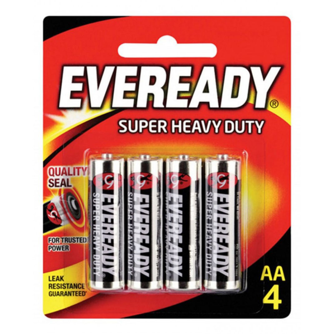 Eveready 1215 AA Carbon Zinc Battery (pkt/4pc)