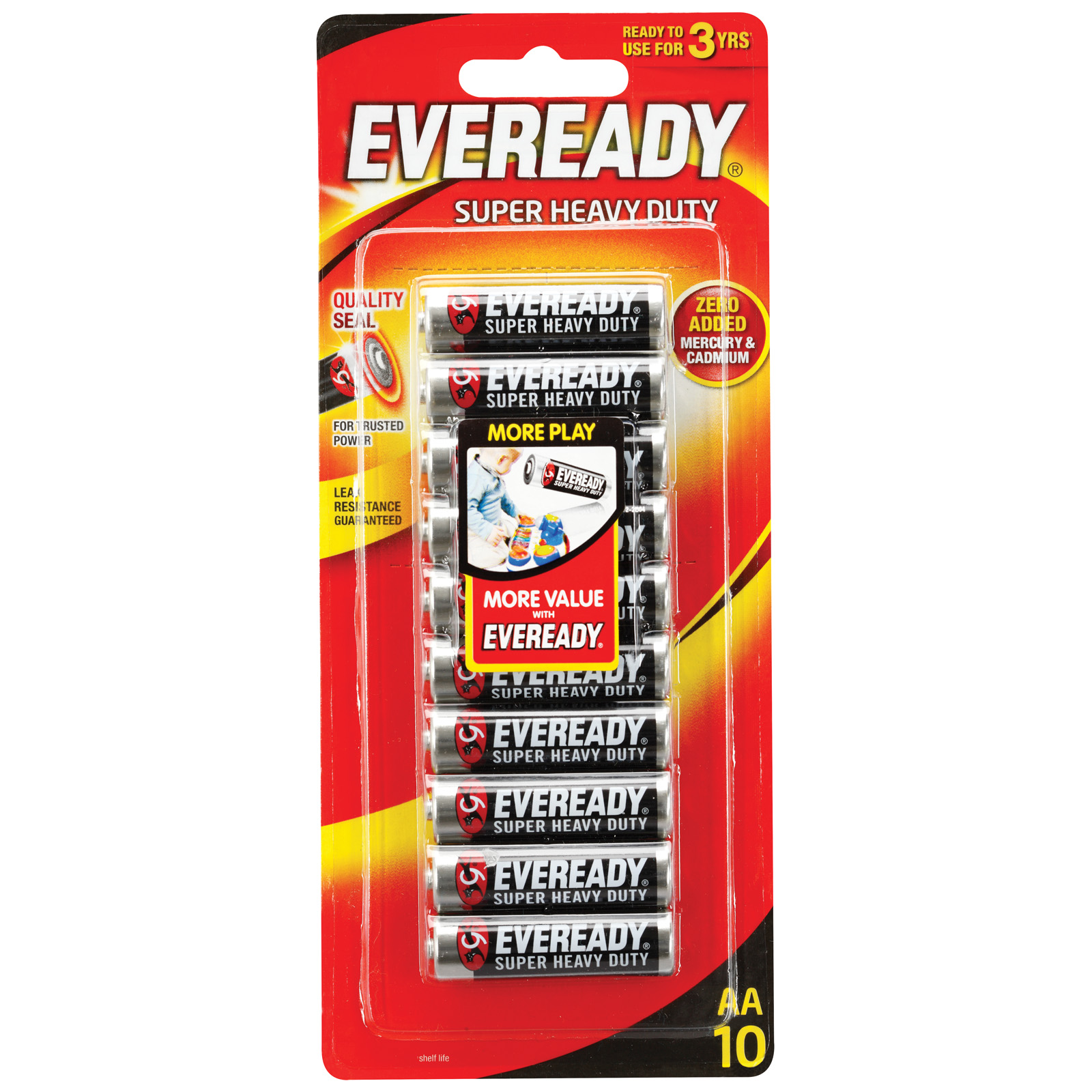 Eveready 1215 AA Carbon Zinc Battery (pkt/10pc)