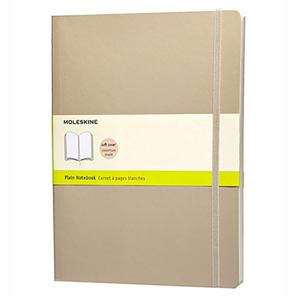 Moleskine Plain Notebook Soft Khaki -XL (ME-QP623G4)