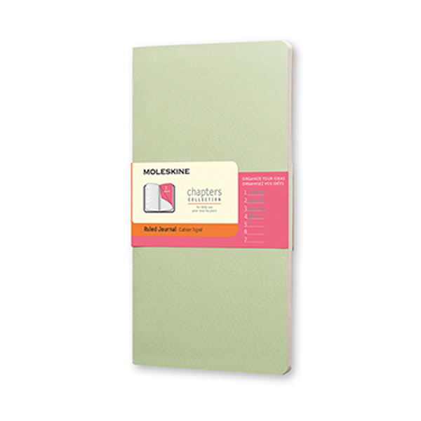 Moleskine Chapters Slim Ruled - Mist Green (ME-CPT031K9)