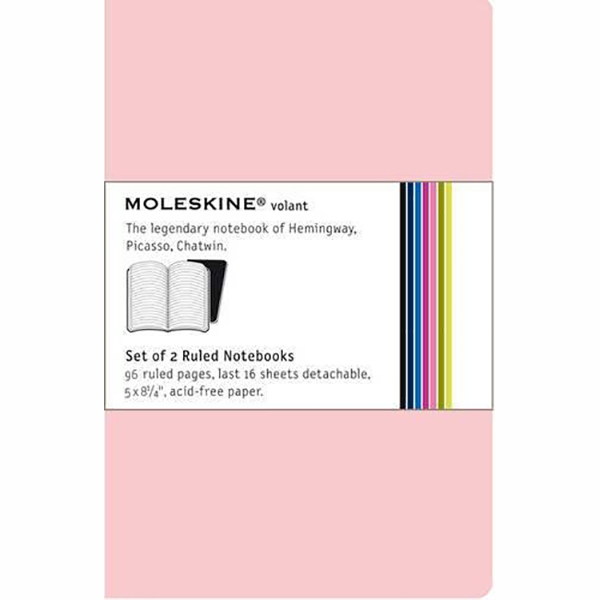 Moleskine Volant  Ruled Pocket Notebook - Pink (ME-QP711DEN)