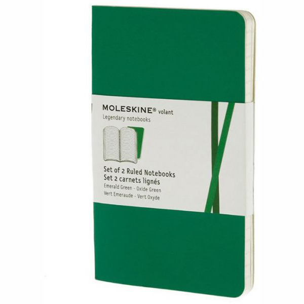 Moleskine Volant  Ruled Pocket Notebook - Green (ME-QP711K12)