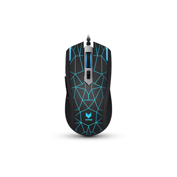 Rapoo VPro Gaming Wired Mouse V26 Multi-color LED - Black