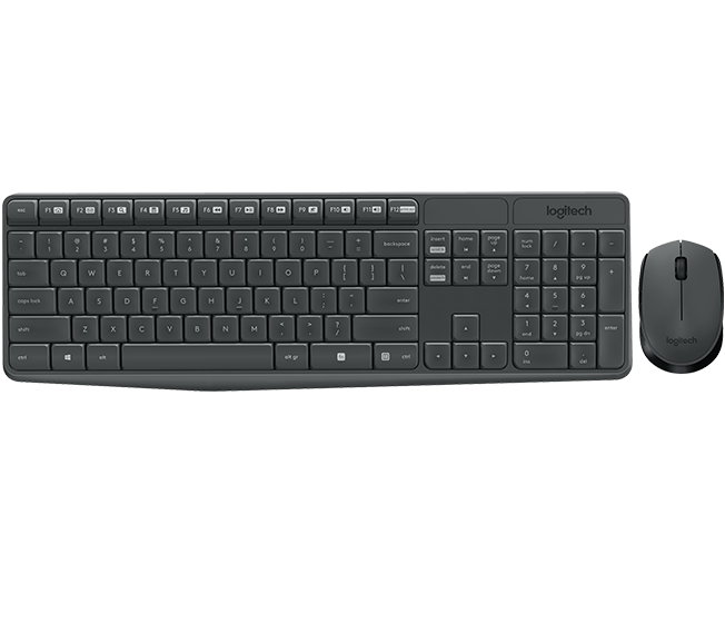 Logitech MK235 Wireless Combo (Grey) - Arabic