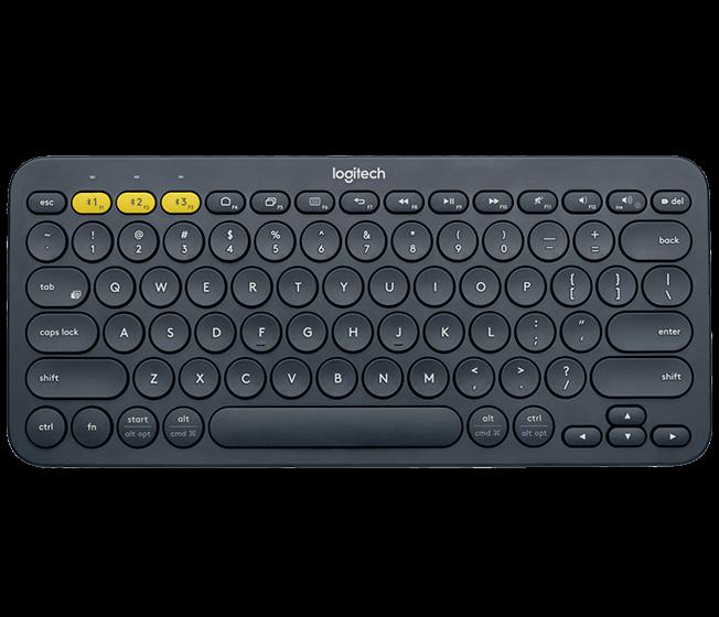 Logitech K380 Multi-Device Bluetooth Keyboard (Dark Grey)