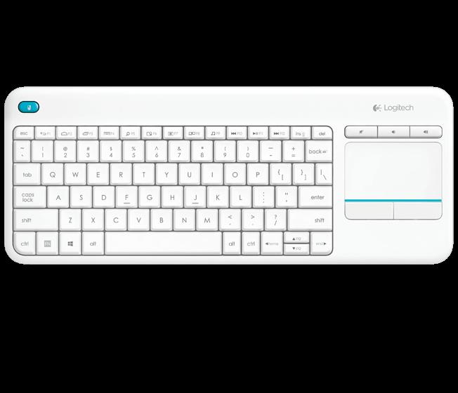 Logitech Wireless Touch Keyboard K400 Plus (White)