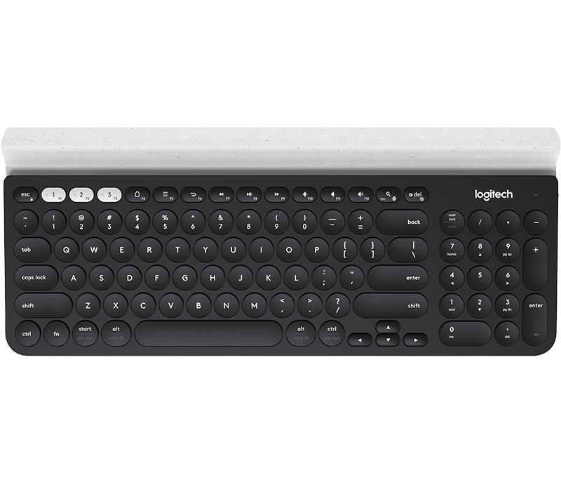Logitech K780 Bluetooth Multi-Device Keyboard - English (Dark Grey/Speckled White)