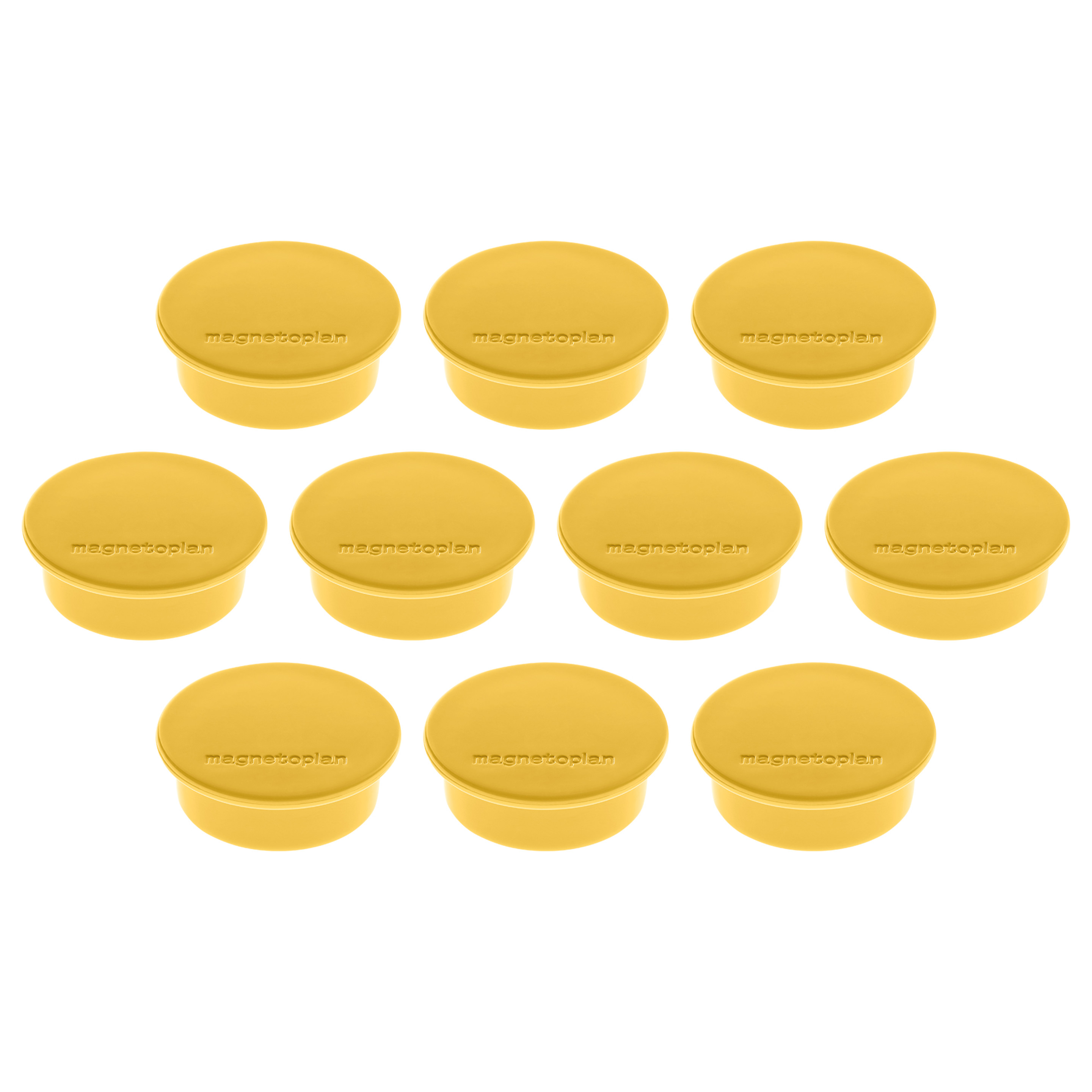 Magnetoplan Magnetic Discofix Colors - Yellow (pkt/10pcs)