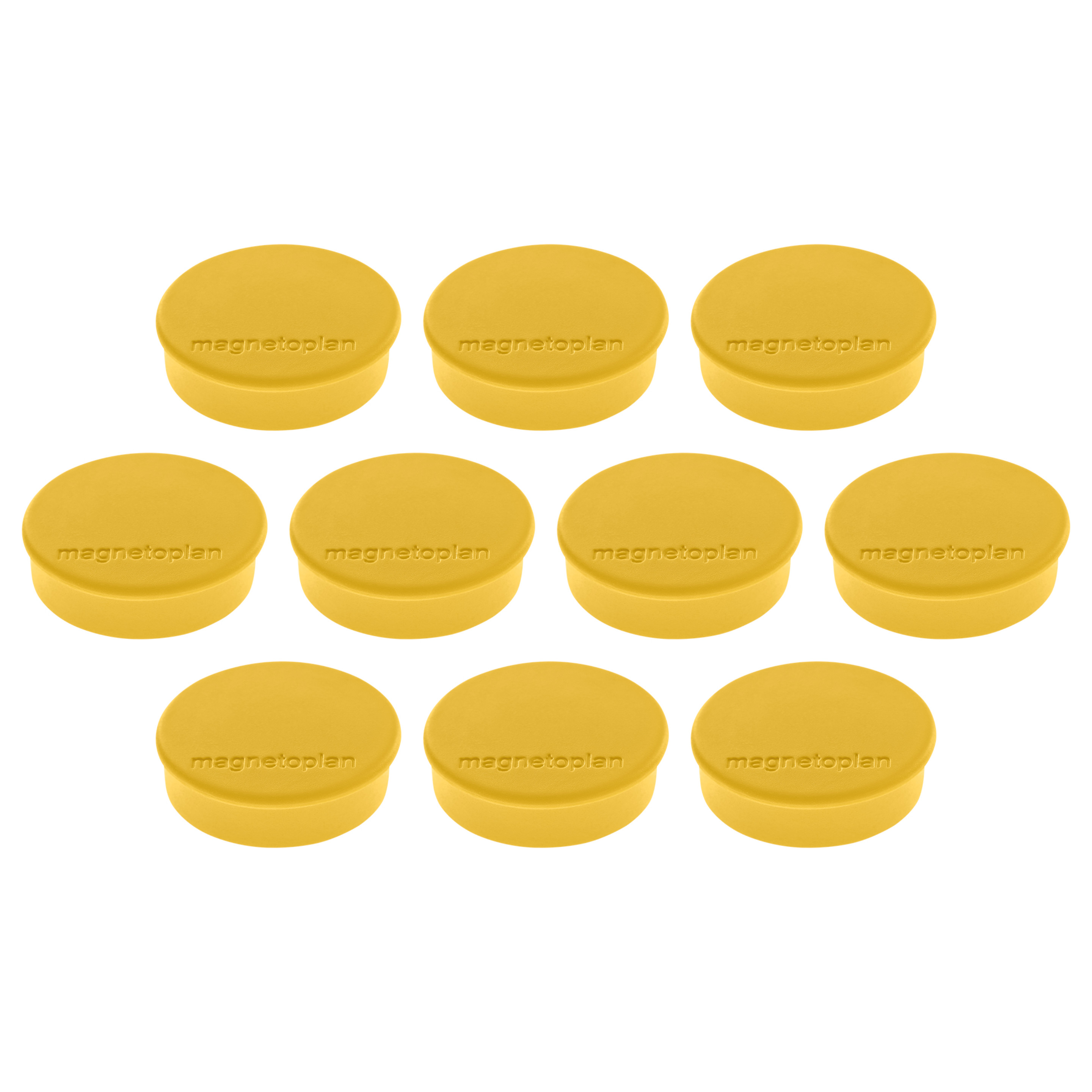 Magnetoplan Magnetic Discofix Hobby - Yellow (pkt/10pcs)