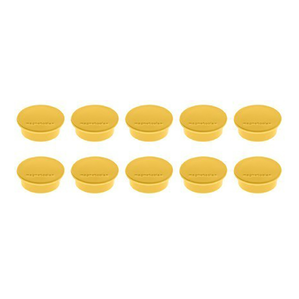 Magnetoplan Magnetic Discofix Mini - Yellow (pkt/10pcs)