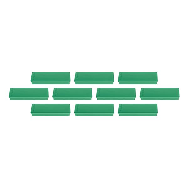Magnetoplan Rectangular Magnet - Green (pkt/4pcs)