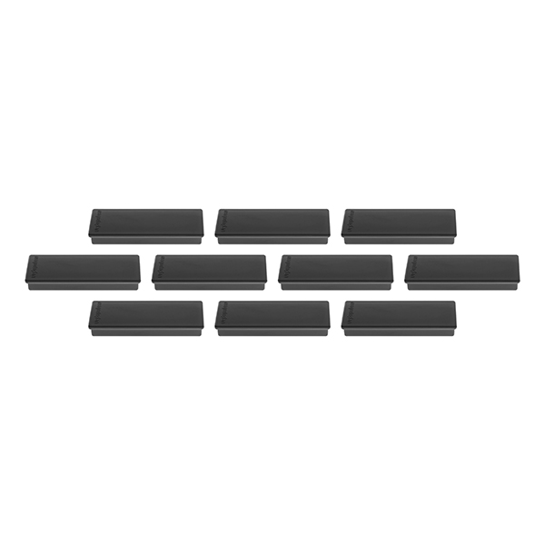 Magnetoplan Rectangular Magnet - Black (pkt/4pcs)