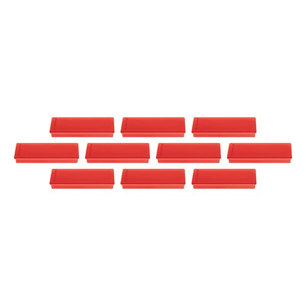 Magnetoplan Rectangular Magnet COP 16651406 - Red (pkt/4pcs)