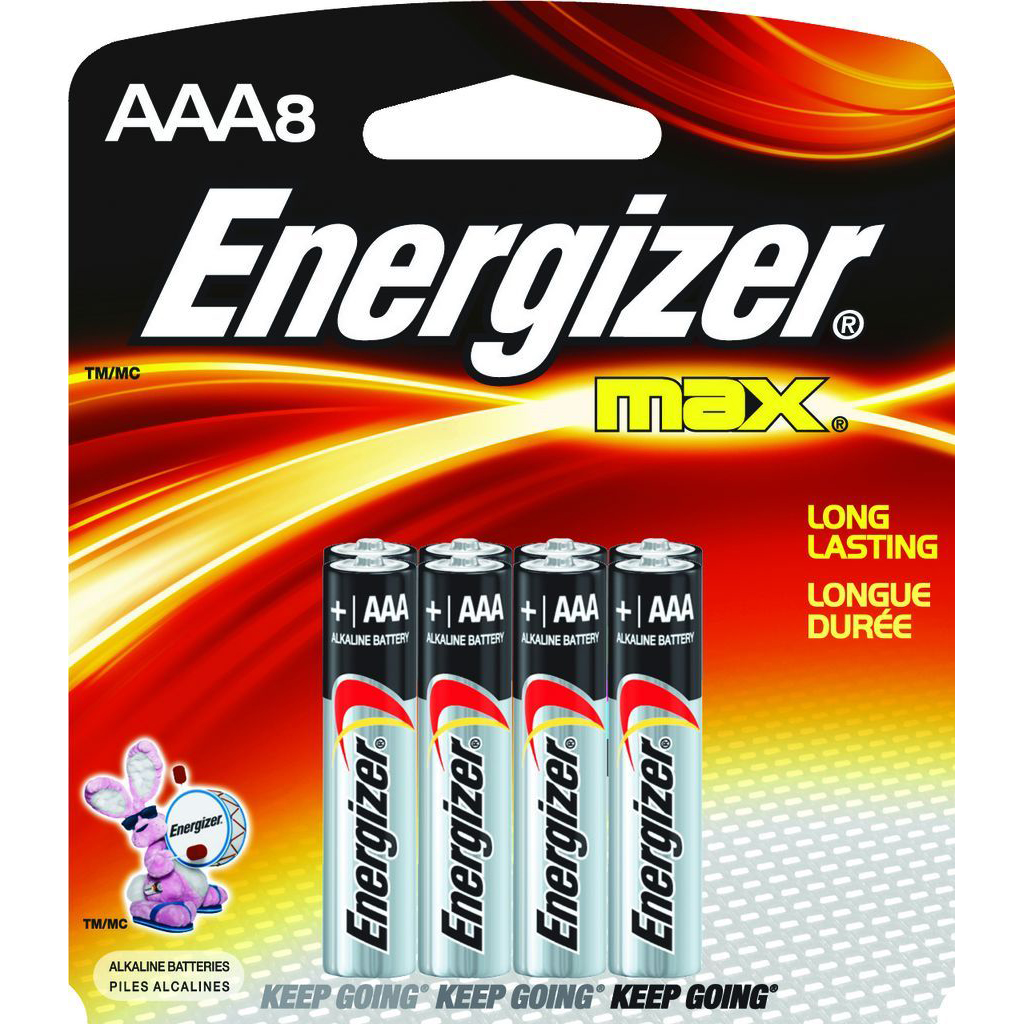 Energizer AAA Battery (pkt/8pc)