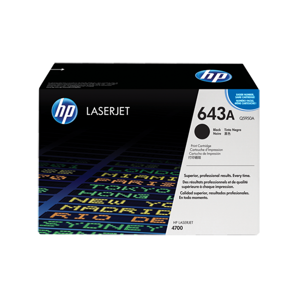 HP 643A Black Original Laserjet Toner Cartridge (Q5950A)