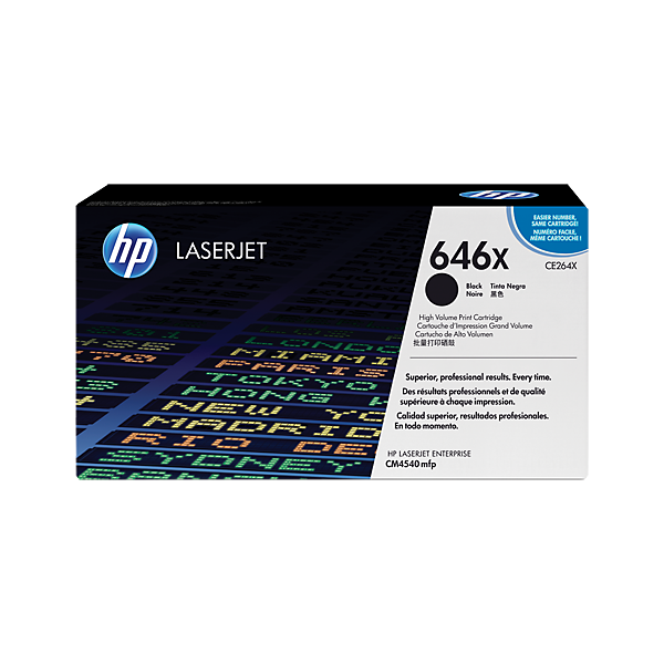 HP 646X High Yield Black Original Laserjet Toner Cartridge (CE264X)