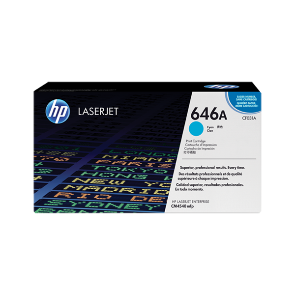 HP 646A Cyan Original Laserjet Toner Cartridge (CF031A)