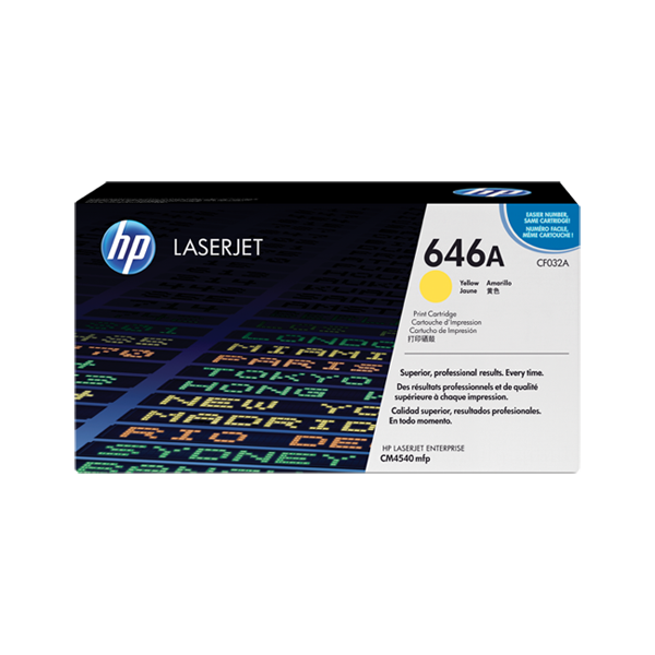 HP 646A Yellow Original Laserjet Toner Cartridge (CF032A)
