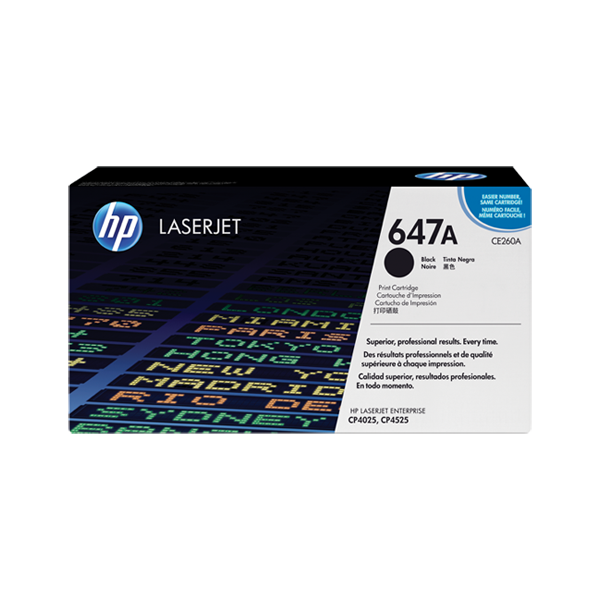 HP 647A (CE260A) Toner Cartridge - Black