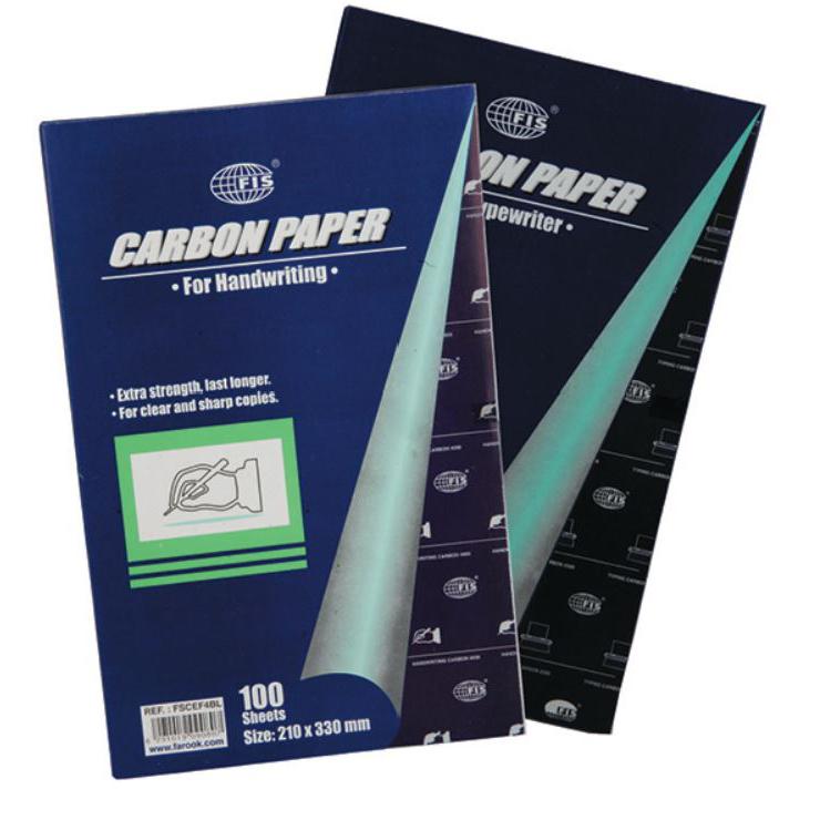 FIS A4 Carbon Paper - Black (pkt/100s)