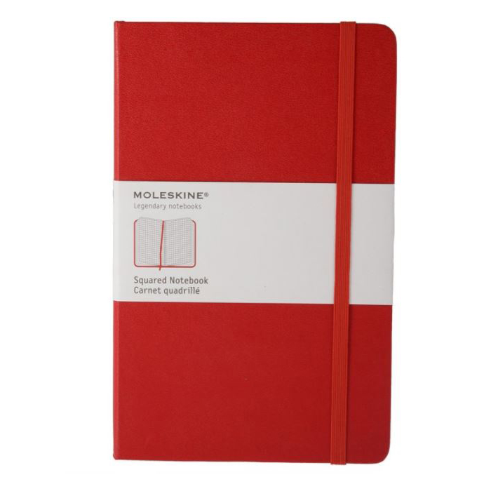 Moleskine Squared Red Notebook - Large (ME-QP061REN)
