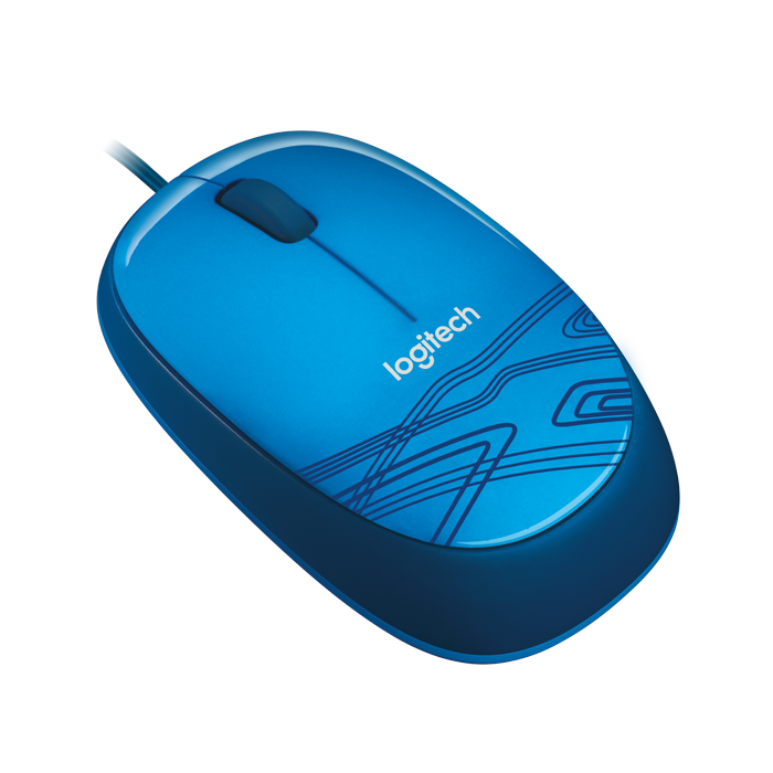 Logitech M105 Wired Mouse (Blue)