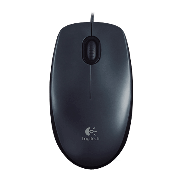 Logitech M100 Wired Mouse (Black)