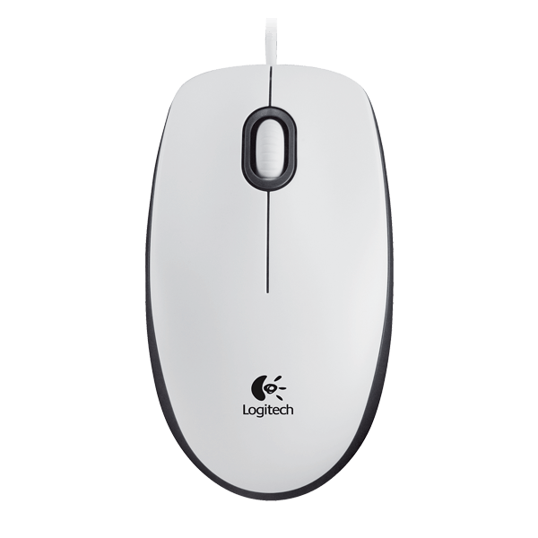 Logitech M100 Wired Mouse (White)