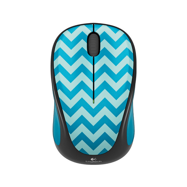 Logitech M238 Wireless Mouse Play Collection -Teal Chevron