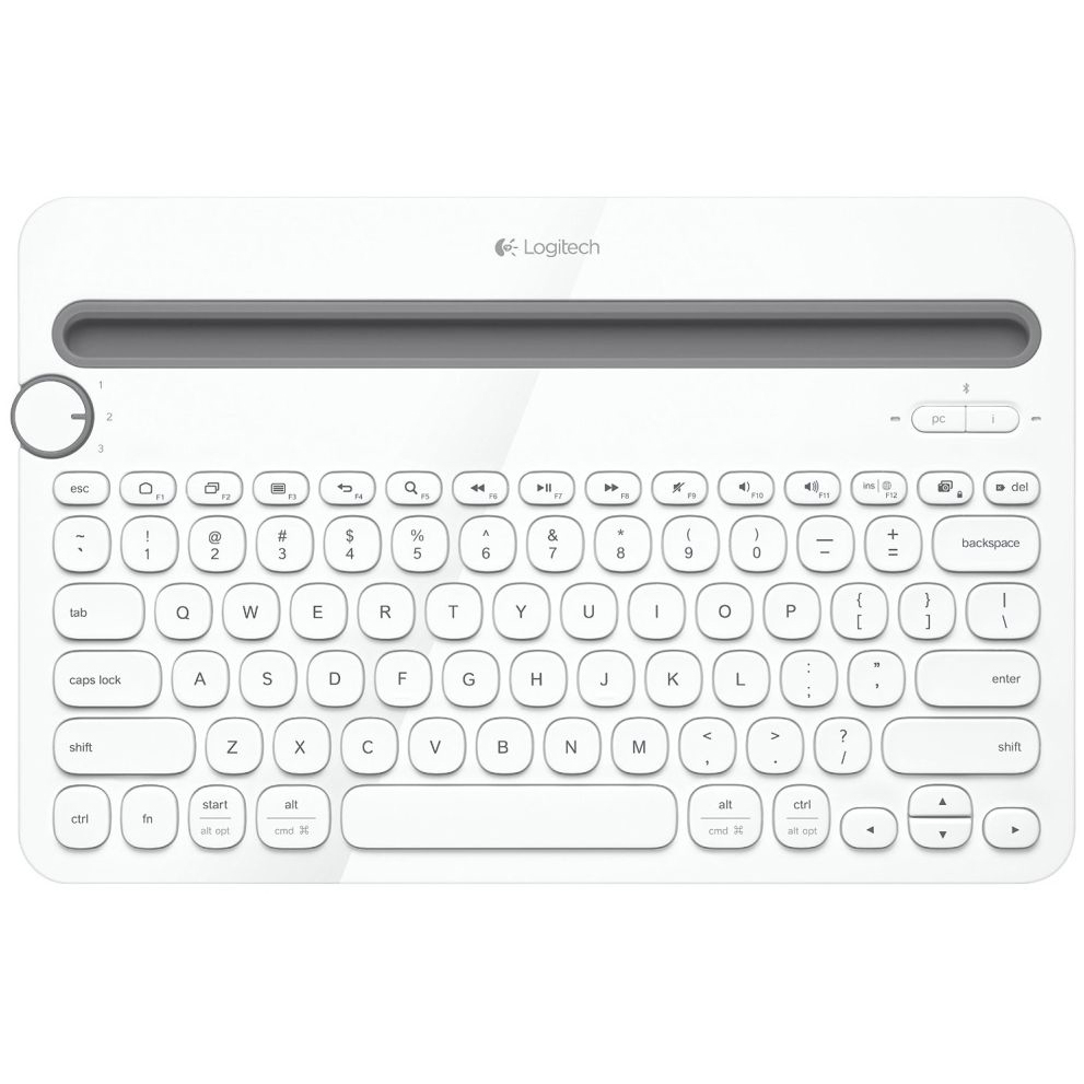 Logitech K480 Multi-Device Bluetooth Keyboard (White)