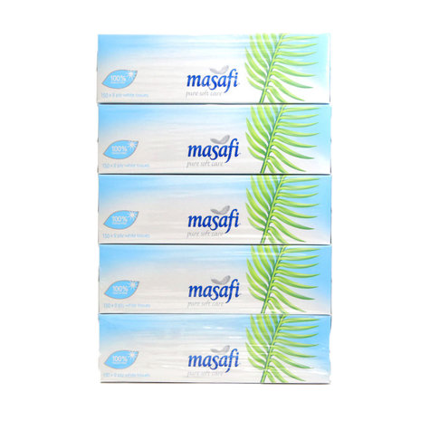 Masafi Facial Tissue Soft 150 x 2ply (Pkt/5pc)