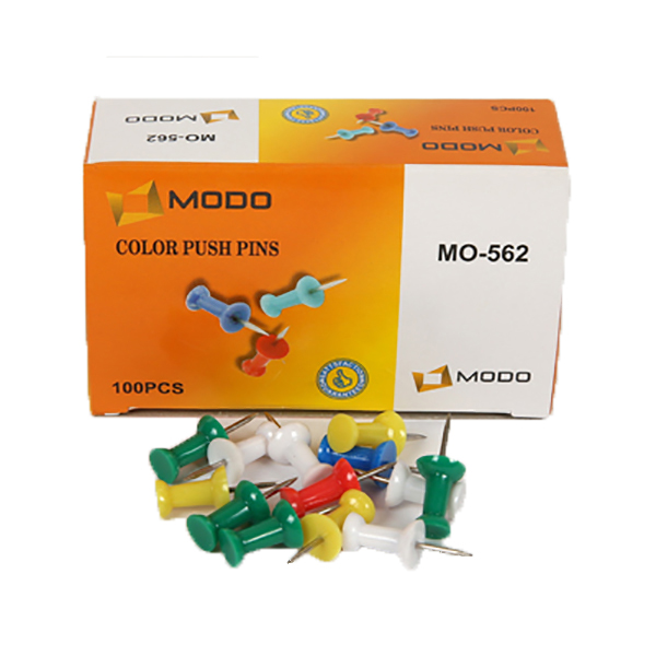 Modo Push Pin Colour - Assorted (pkt/100pcs)