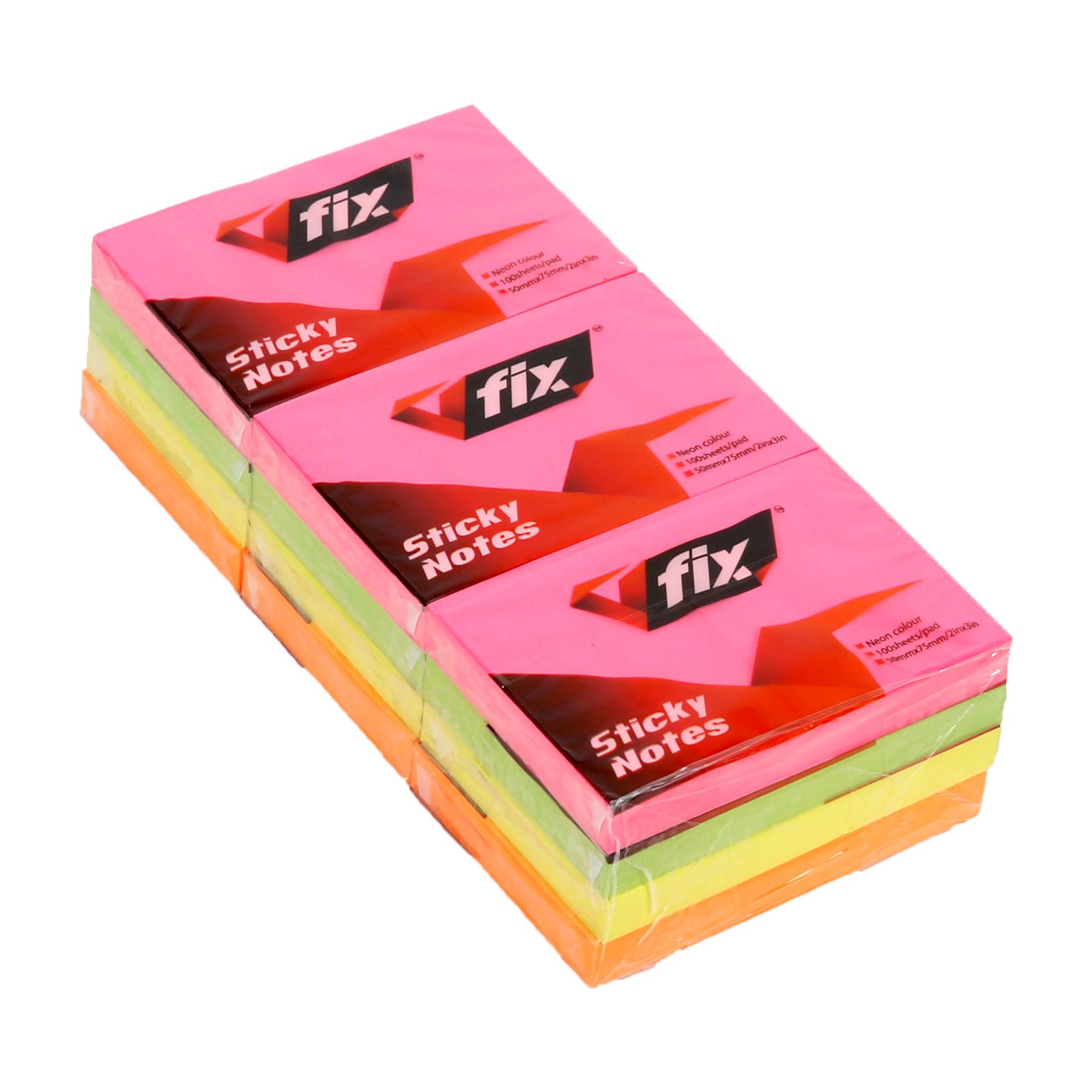 V Fix VF23-12N Post-it 2 x 3 - Neon (pkt/12pcs)