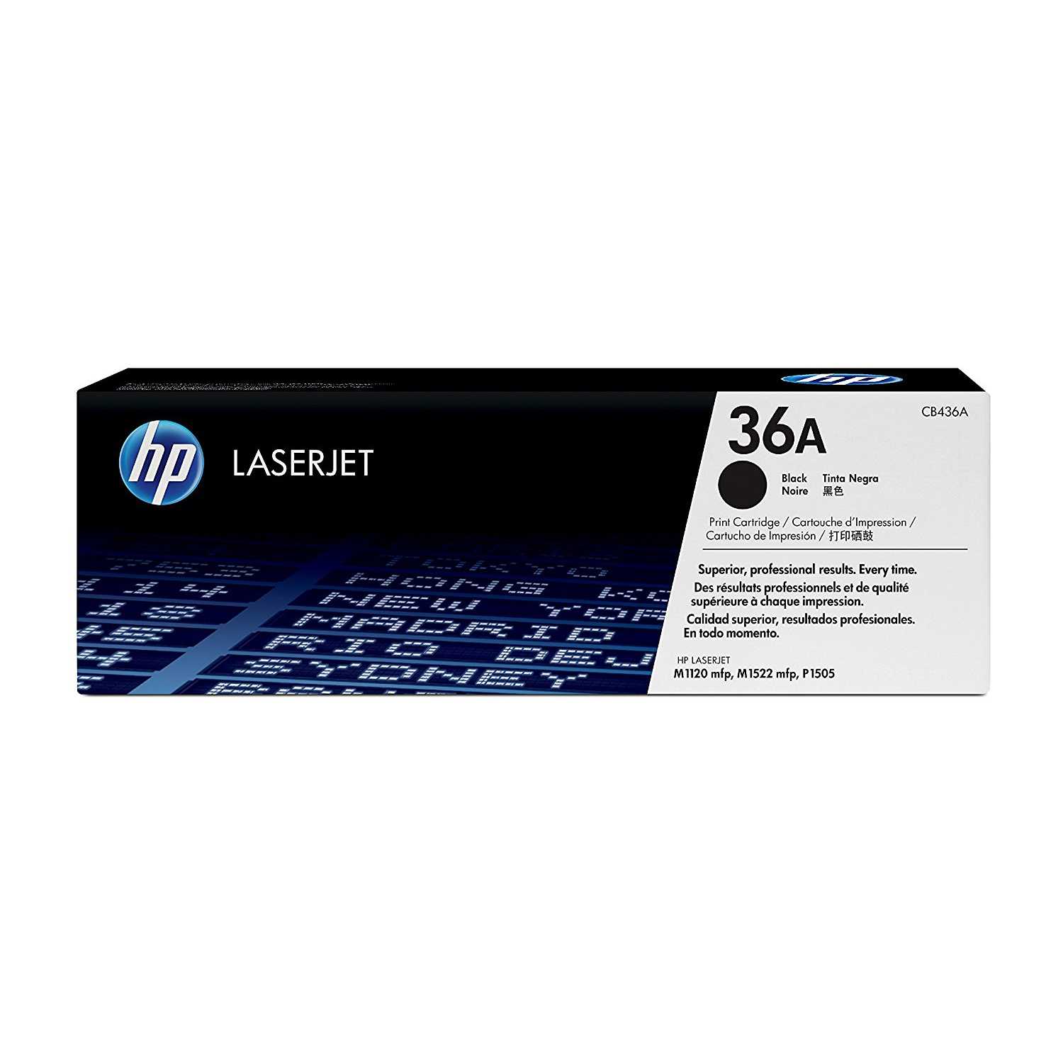 HP 36A DUAL PACK BLACK ORIGINAL LASERJET TONER CARTRIDGES (CB436AD)