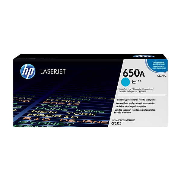 HP 650A Cyan Print Cartridge (CE271A)