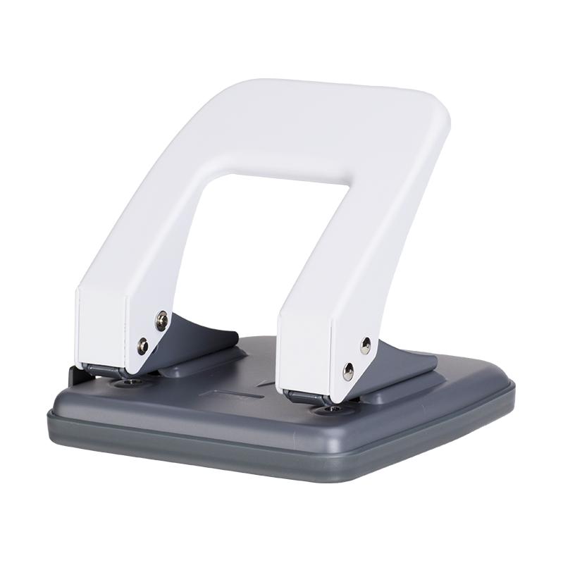 Deli E0104 35-sheets Metal Punch - White/Grey (pc)