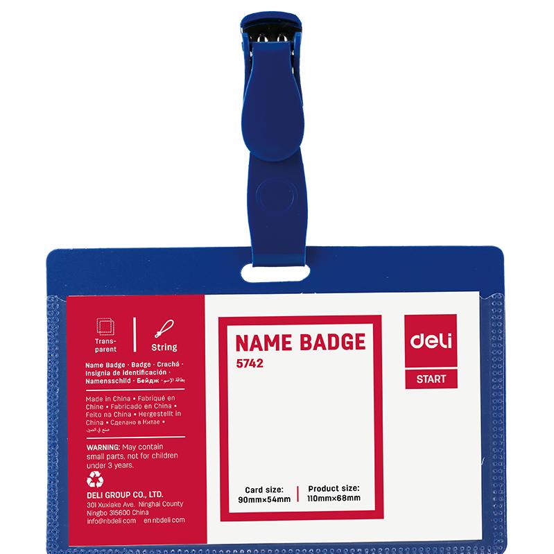 Deli E5742 Name Badge - Blue