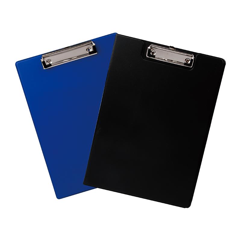 Deli E38153 PP-coated Low-Profile A4 Clip Board - Black (pc)