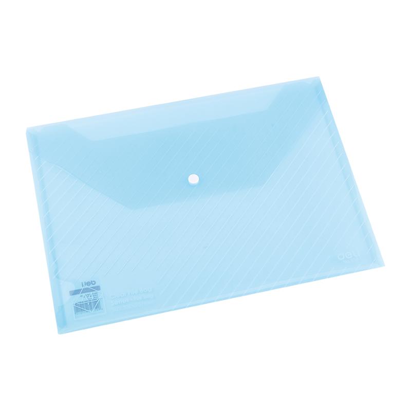 Deli E5501 Snap A4 File Bag - Translucent (pc)