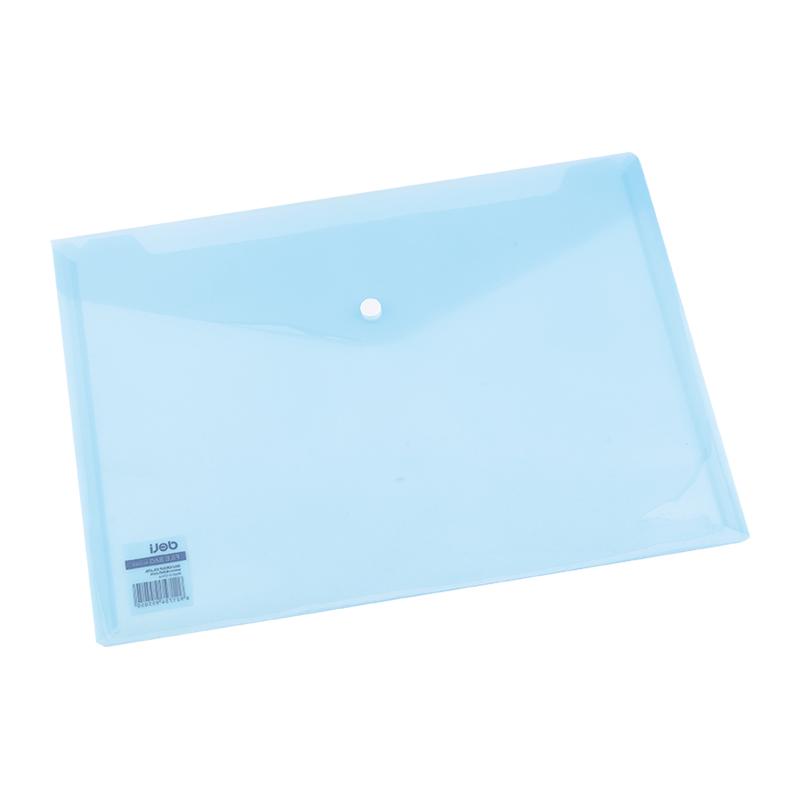 Deli E5505 Snap A4 File Bag - Translucent