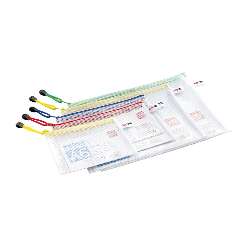 Deli E5654 PVC Mesh A4 Zip Bag (pc)