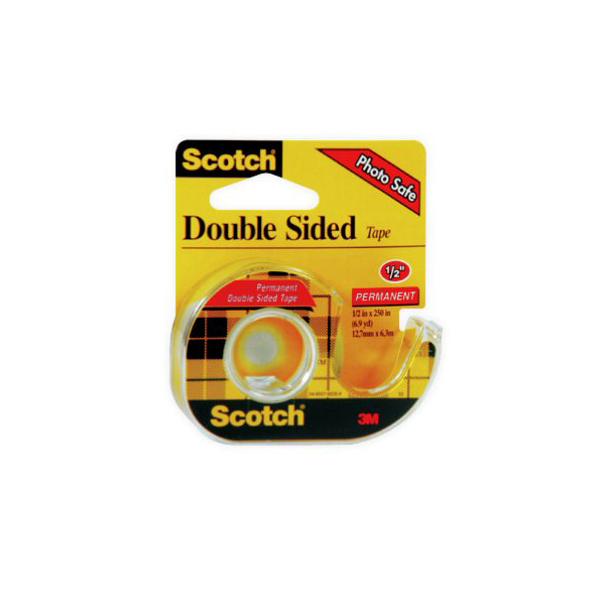 3M 136 Double Side Tape - 0.5in x 6m (pc)