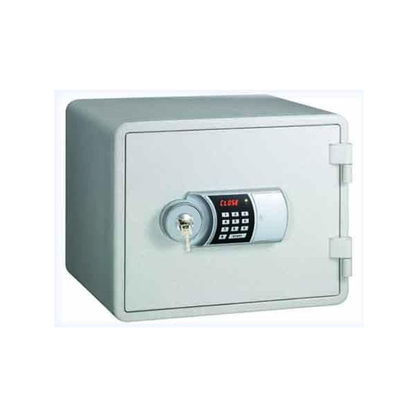 Eagle YES-M015K Fire Resistant Safe with Digital Keypad & Key Lock - White