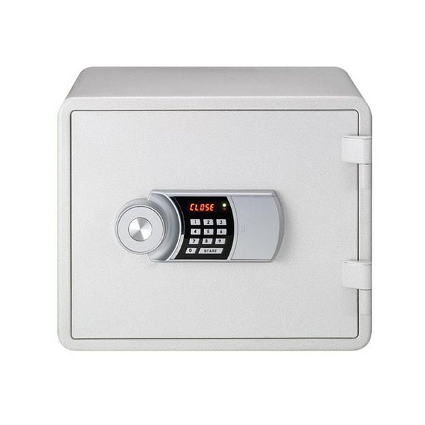 Eagle YES-M020K Fire Resistant Safe with Digital Keypad & Key Lock - White