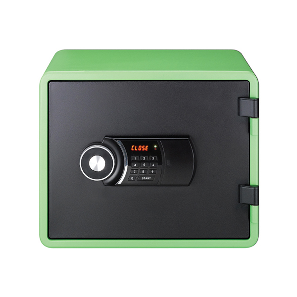 Eagle YES-M020K Fire Resistant Safe with Digital Keypad & Key Lock - Green
