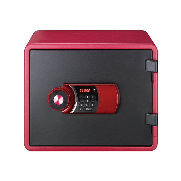 Eagle YES-M020K Fire Resistant Safe with Digital Keypad & Key Lock - Red