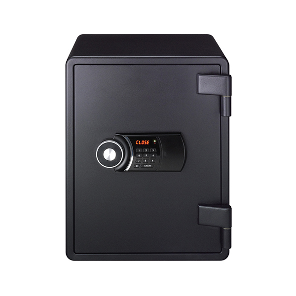Eagle YES-031DK Fire Resistant Safe with Digital Keypad & Key Lock - Black