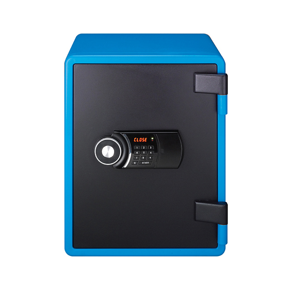 Eagle YES-031DK Fire Resistant Safe with Digital Keypad & Key Lock - Blue