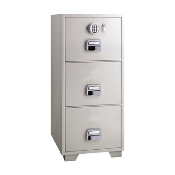 Eagle SF680-3EKX Fire Resistant Filing Cabinet with 3 Drawers